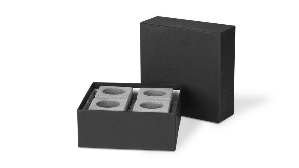 """Geschenkset """"Block"""" für Teelichter"""