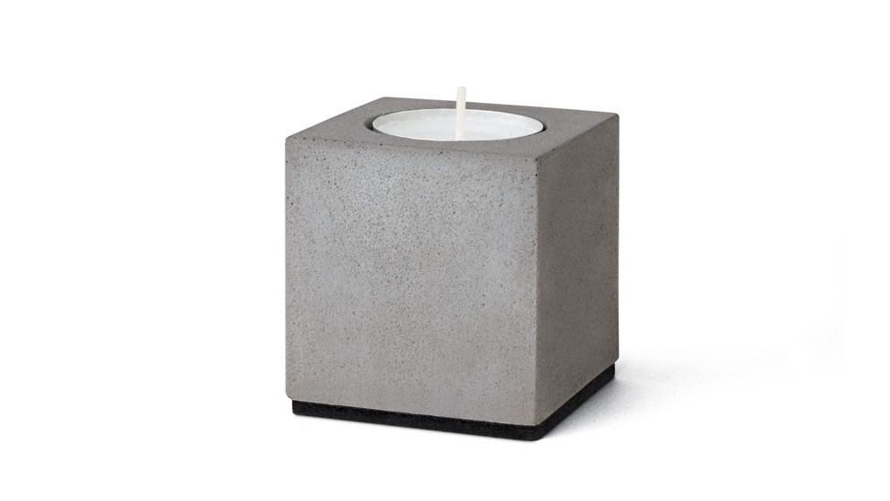 "Teelichthalter ""Block"" aus Beton"