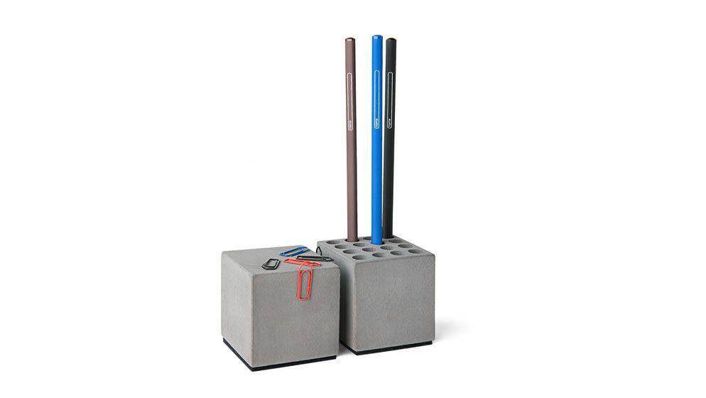 Stiftehaler + Magnetischer Beton für Büroklammern
