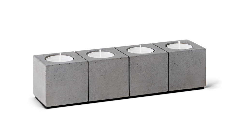 Kerzenleuchter Blockvier für Teelichter