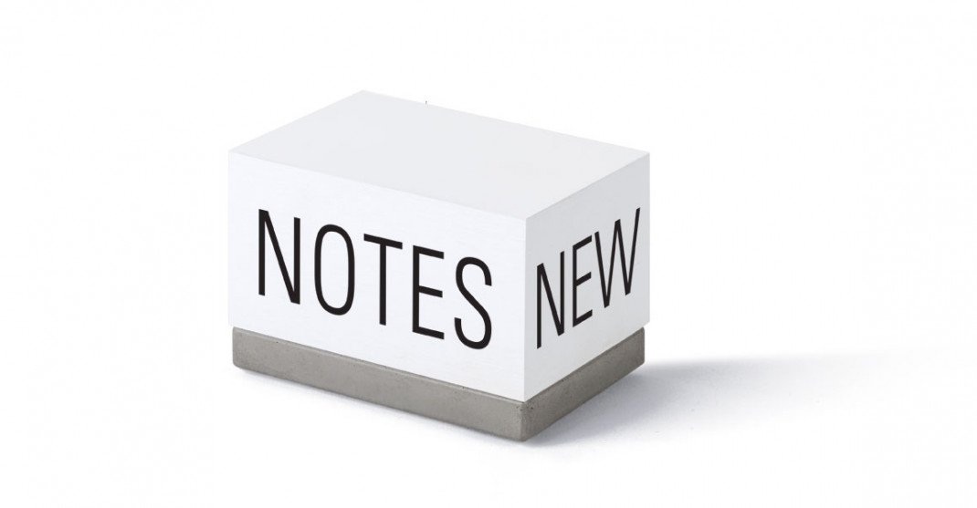 "Zettelklotz ""NEW NOTES"""