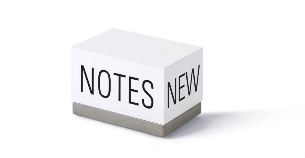"Zettelklotz ""NEW NOTES"""
