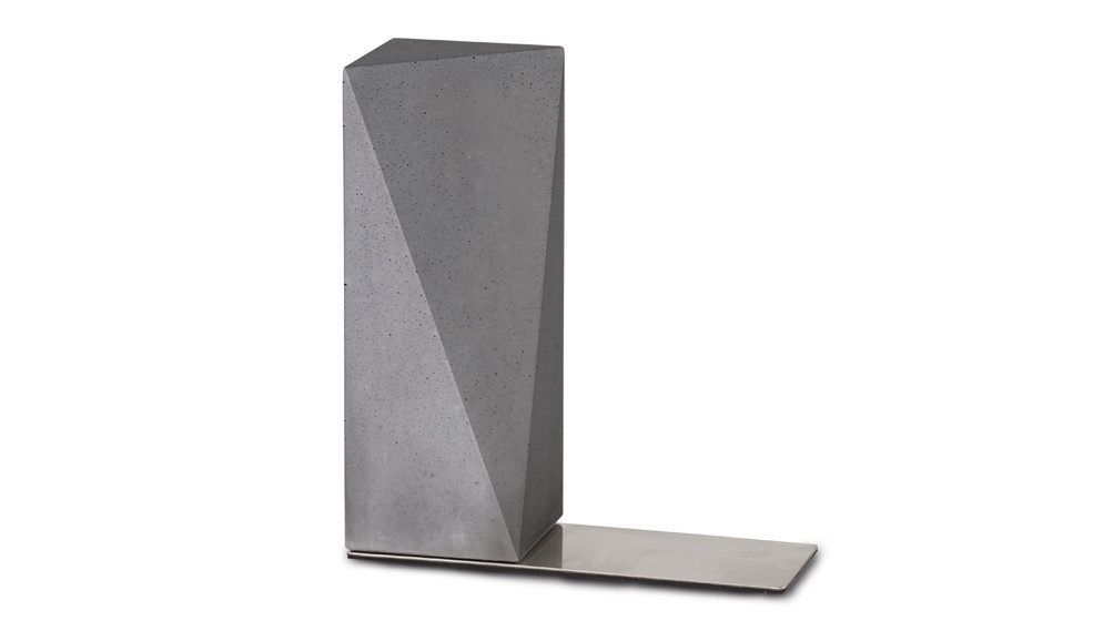 Buchstütze Norwand in grau