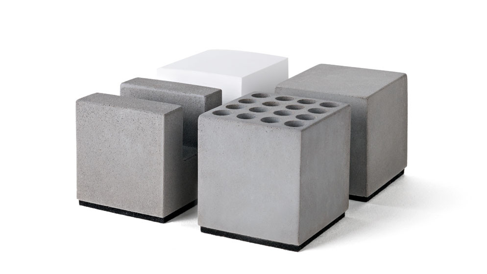 "Büro Set ""Block"" aus Beton (4er-Set)"