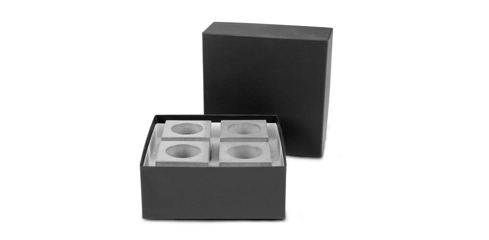 Geschenkset - Eierbecher Block mit Verpackung
