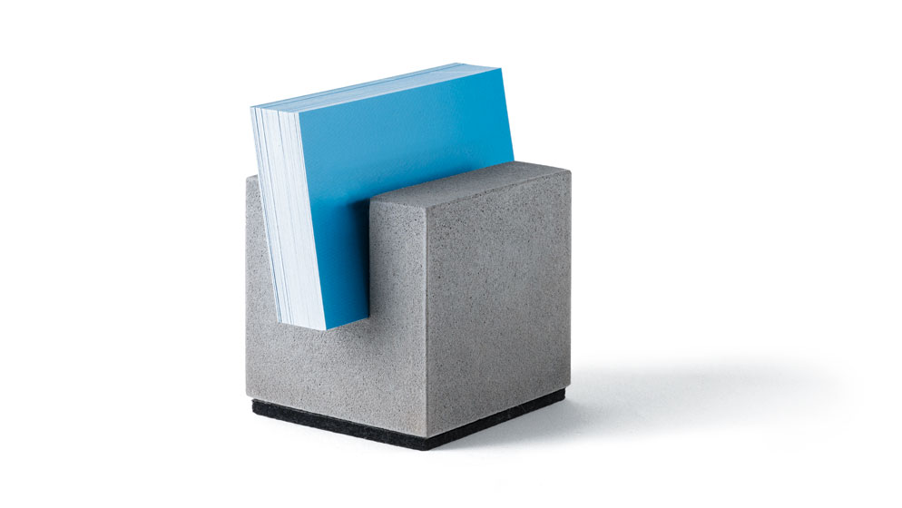 block f r businesskarten aus beton korn produkte. Black Bedroom Furniture Sets. Home Design Ideas