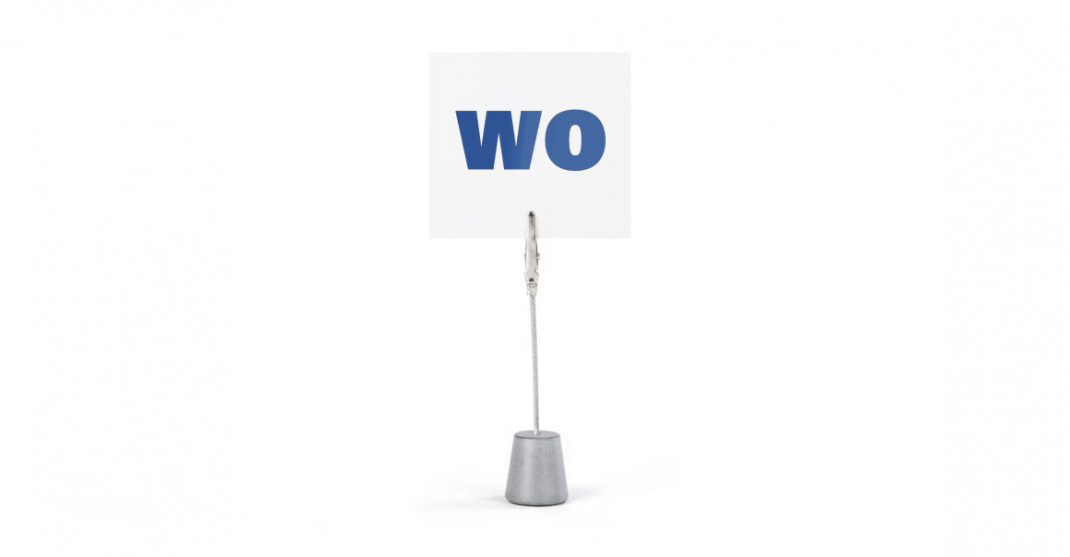 """Zettelhalter """"WO"""""""